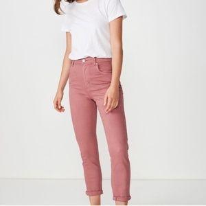 Cotton On dusty rose skinny jeans size 8 USA